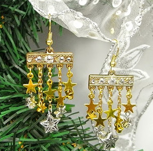 Dangling Gold Star DIY Earrings