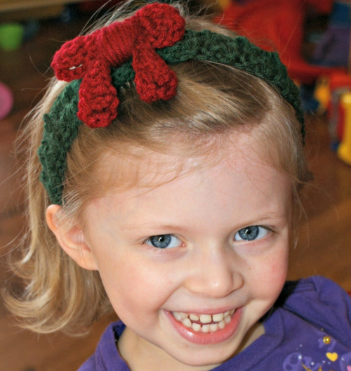 Holiday Wreath Headband