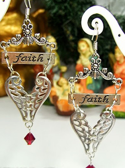 Have Heart Have Faith Earrings