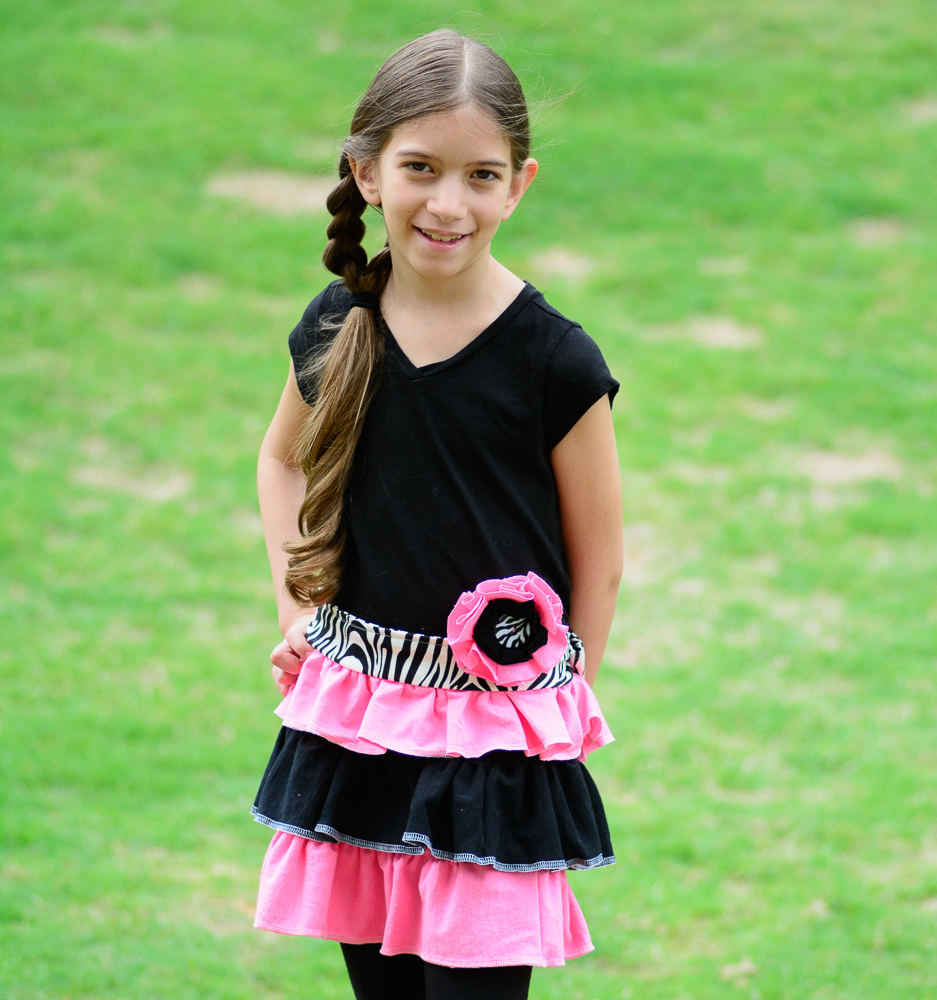 Diy Upcycled T Shirt Dress For Girls Allfreesewing Com
