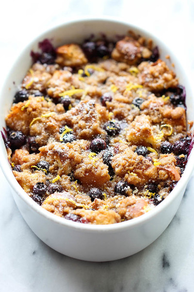 Baked Blueberry Lemon French Toast
