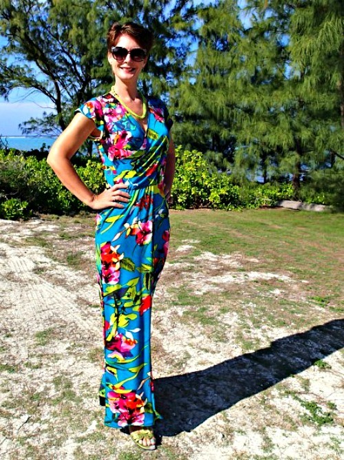 Tropical Wrap Dress Pattern