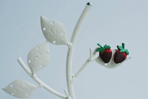 Cute Chocolate Covered Strawberry DIY Earrings