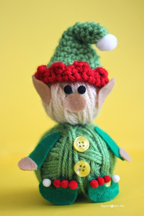 Yarn Ball Crochet Elf