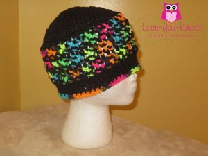 Bright Stripes Crochet Beanie Pattern
