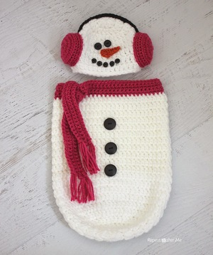 Crochet Snowman Hat and Cocoon