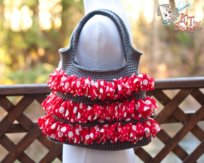 Crocheted Ruffle Purse