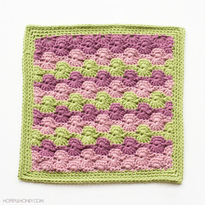 Meadow Afghan Square Crochet Pattern