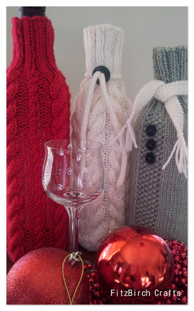 Christmas Cheer Wine Cozies