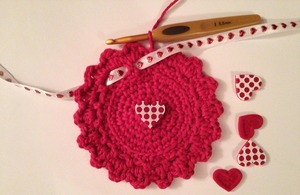 Valentine's Day Crochet Cozy
