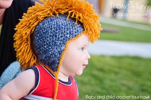 Baby Mohawk Crochet Hat Pattern  f87b3c3bc3e