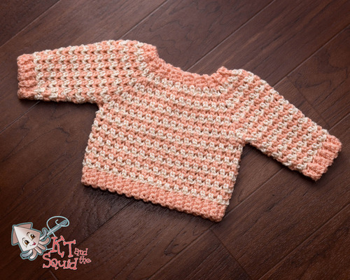Striped Newborn Crochet Sweater Pattern