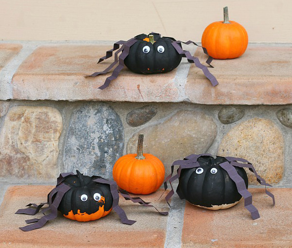 Mini Pumpkin Spiders Allfreekidscrafts Com