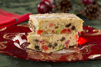 Applesauce Fruitcake Bars