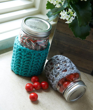 Lacy Mason Jar Crochet Cozy