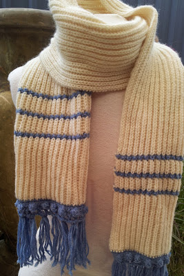 Fisherman S Rib Sitch Scarf Allfreeknitting Com
