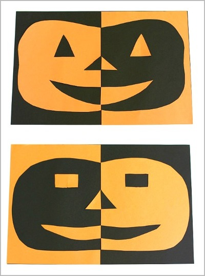 Negative Space Paper Pumpkin