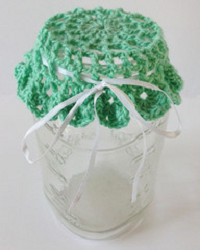 Cluster Jar Lid Cover Crochet Pattern