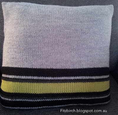 Decorative Striped Throw Pillow