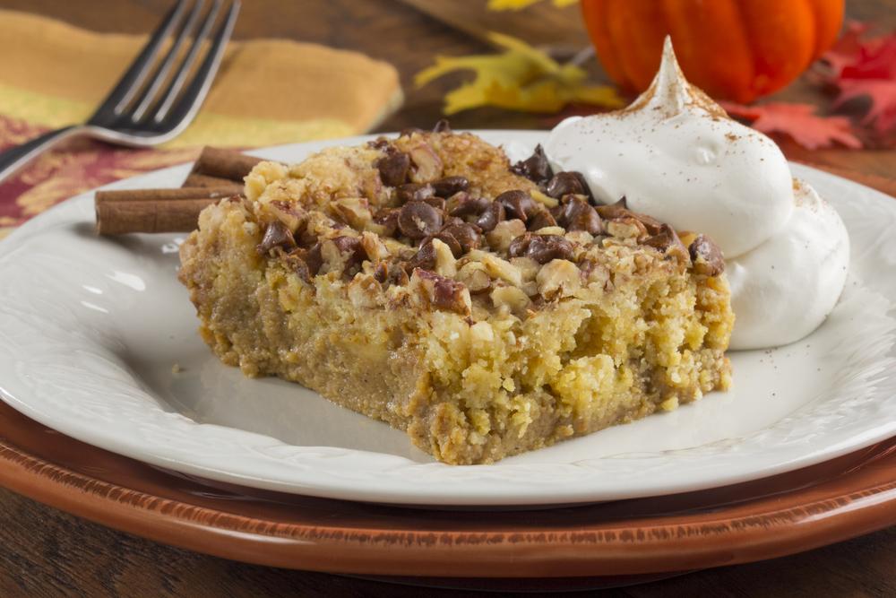 Autumn Pumpkin Dump Cake | MrFood.com