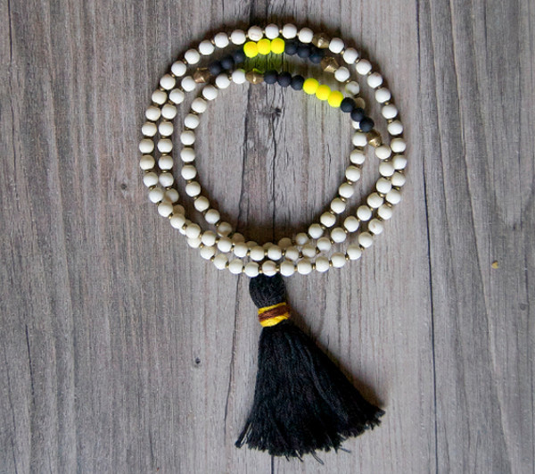 Safari Inspired DIY Tassel Necklace