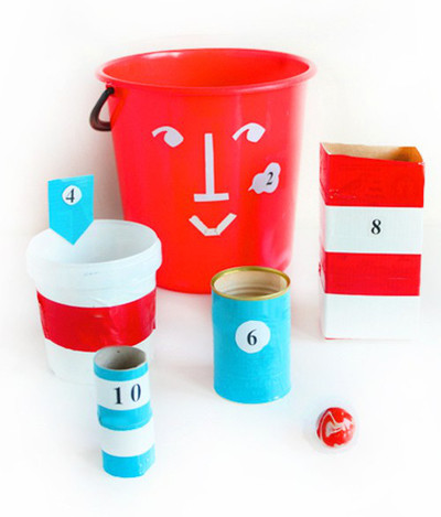 Homemade Bucket Toss Game