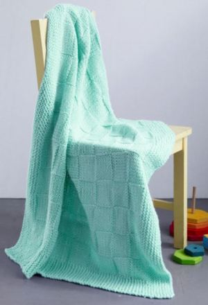 Babysoft Checkers Baby Blanket