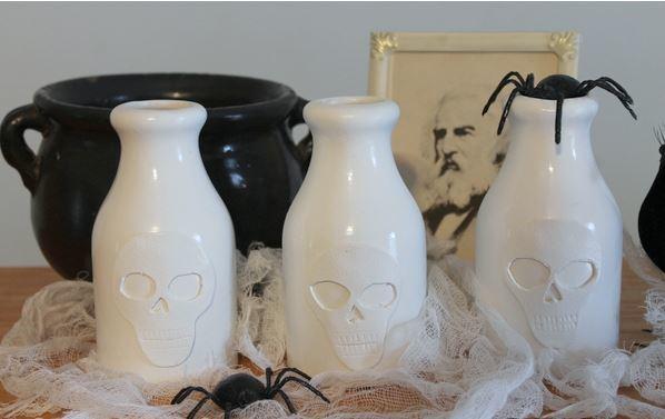 Pottery Barn Knock Off Skull Vase Allfreeholidaycrafts Com