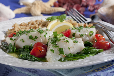 Baked Fish Scampi
