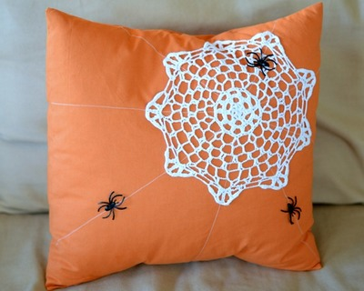 Spider Web Pillow Design