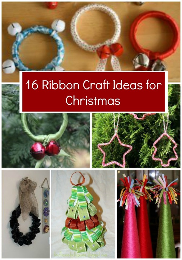 16 Ribbon Craft Ideas for Christmas