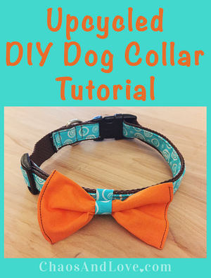 Colorful Upcycled Dog Collar Tutorial