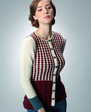 Rosie the Riveter Knit Cardigan