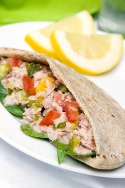 Healthy Chicken Waldorf Pitas