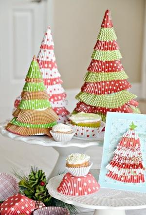 Cupcake Liner Christmas Trees