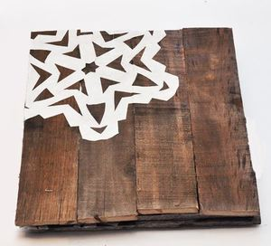 Pallet Wood Snowflake Chargers