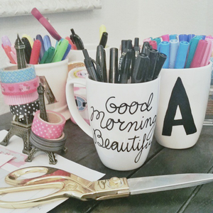 DIY Paint Pen Coffee Mugs