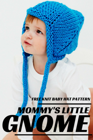 Mommy's Little Gnome Knit Baby Hat Pattern