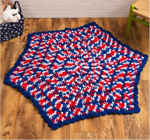 July 4th Crochet Baby Blanket