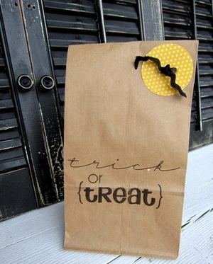 Halloween Paper Sack Gift Bags