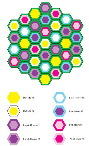Blooming Hexagon Crochet Afghan Pattern Grid