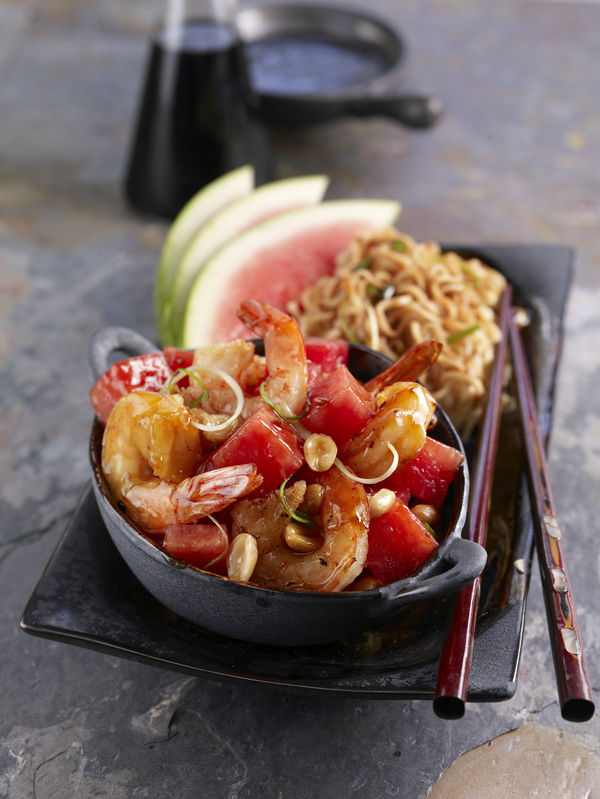 Kung Pao Watermelon Shrimp