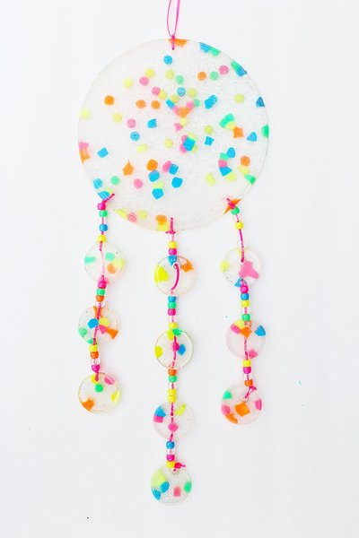 Dreamy Melted Bead Suncatcher
