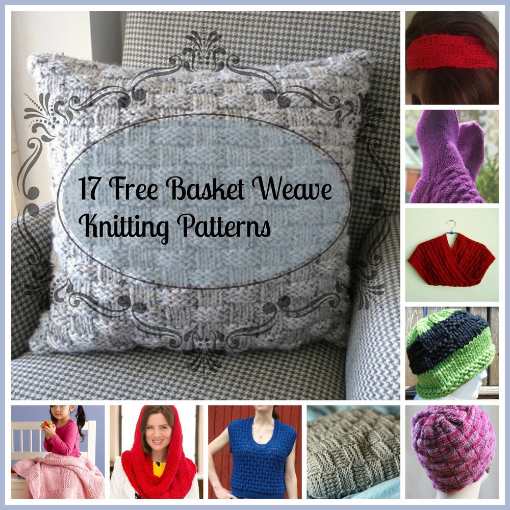 Free Knitting Pattern For Basket Weave Scarf : 17 Free Basket Weave Knitting Patterns AllFreeKnitting.com