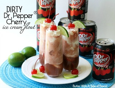 Dirty Dr Pepper Cherry Ice Cream Float