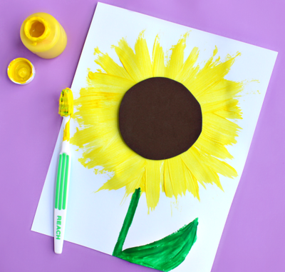 Sunflower Toothbrush Art