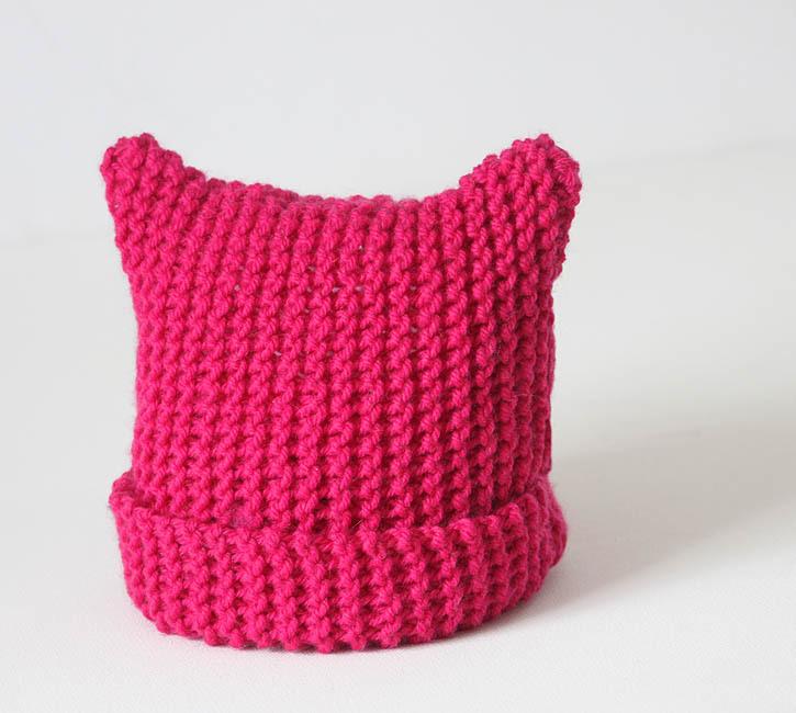 Kitty Ear Toddler Hat | AllFreeKnitting.com