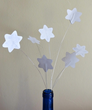 Stars and Stripes Wine Bottle Centerpiece
