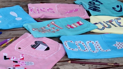 Funky Pencil Cases from Jeans