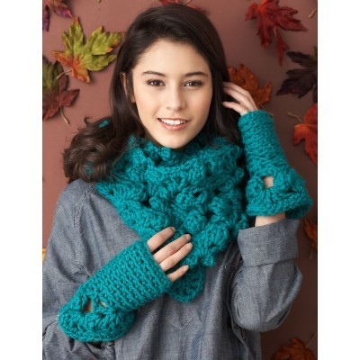 Cushy Cowl and Fingerless Mitts